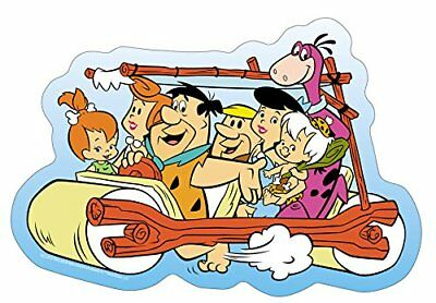 The Flintstones Family Car STICKER - Fred Pebbles Bam Cartoon Decal SE012