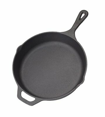 Pre-Seasoned Cast Iron Skillet Frying Pan Panful Stove Oven Cookware 12 inch
