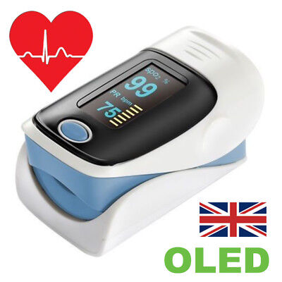 Finger Fingertip Blood Oxygen Meter Health Heart Rate Monitor OLED SPO2 Oximeter
