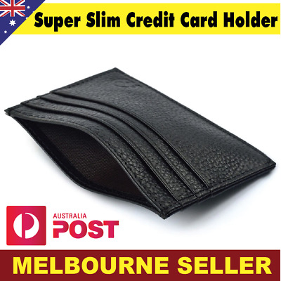 Mens Small Wallet Slim Genuine Leather ID Credit Card free Post Money Holder