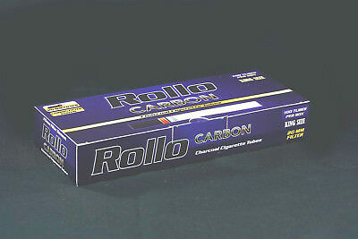 "1000 NEW ""CARBON"" EMPTY ROLLO TUBES Cigarette Tobacco Rolling Roll FREE INJECTOR"
