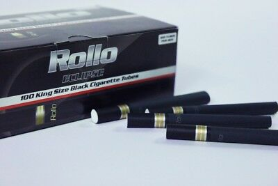 600 ECLIPSE BLACK EMPTY ROLLO TUBE Cigarette Tobacco Rolling Roll Filter Ventti
