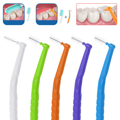 10pcs L Shaped Interdental Brush Toothbrushes 0.7-1.2mm Oral Dental Care Floss