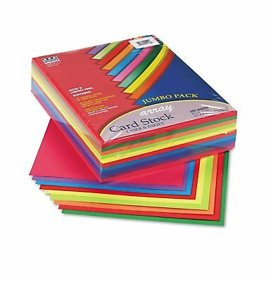 Pacon Array Card Stock 65 lb. Letter Assorted Lively Colors 250 Sheets/Pack