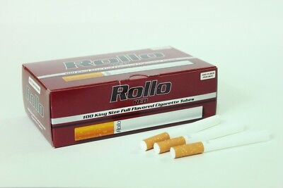 1000 RED EMPTY ROLLO TUBES Cigarette Tobacco Rolling Roll Filter FREE INJECTOR*