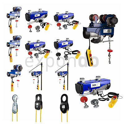Wire Rope Hoist Crane Trolley Professional Electrical Hoist Winch 1000 Kg