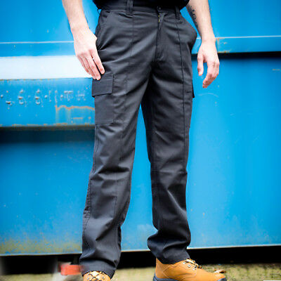 GGT001 Multi Pocket Navy or Black  Combat Work Trousers - Button Fastening