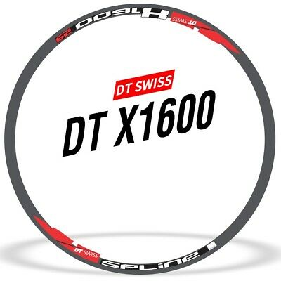 Two Wheel Sticker Set for DT SWISS X1600 SPLINE Mountain Bike MTB Rim Decals