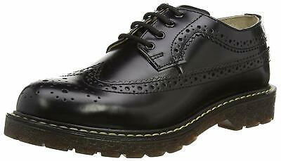 Grinders Bertrum Black Mens Ladies American Brogue Casual Leather Lace Up Shoes