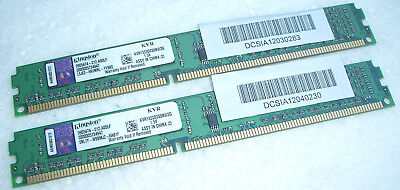 4GB RAM DDR-3 Kingston 2 x 2GB Module KVR1333D3S8N9/2G PC3-10600 1333 Mhz DDR3 #