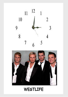 WESTLIFE  A4 Frame CLOCK personalised free