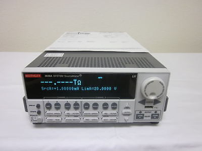 Keithley 2636A Dual Channel System SourceMeter (200V, 1fA, 10A Pulse) CALIBRATED