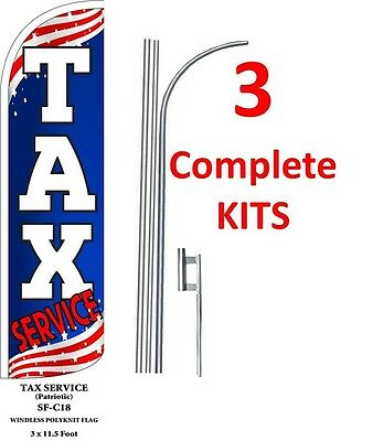 five CAR WASH PATRIOTIC 15/' x 3/' WINDLESS SWOOPER FLAGS KIT 5
