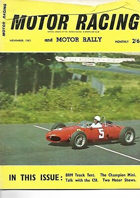 5 x Motor Racing Magazine. 1961/1962.. Collectable. Good Condition. TO CLEAR !!!