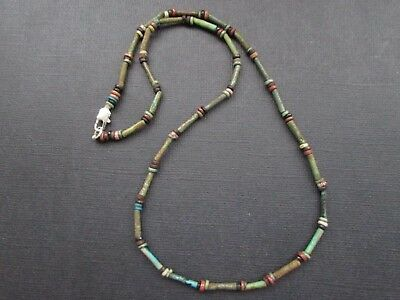 NILE  Ancient Egyptian Amulet Mummy Bead Necklace ca 1000 BC