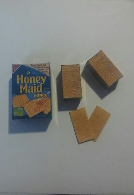 Dollhouse Miniature Box Graham Crackers 1:6 Food Grocery