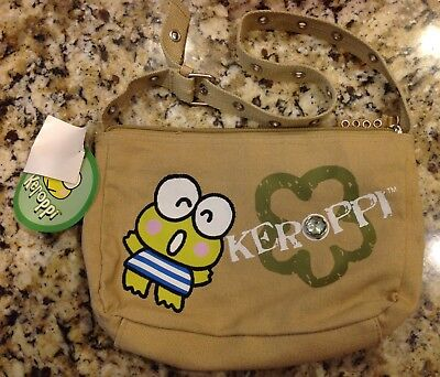 Sanrio Keroppi Canvas Purse Bag With Tags Dated 2006