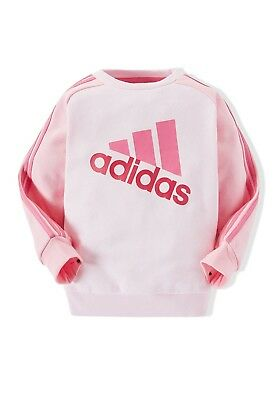 adidas girls pink/navy infant/baby logo top. Age 6-9 months.