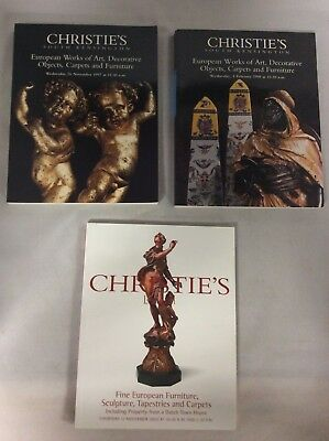 European Art Sculpture Tapestries Carpets Christie's Lot of 3 Auction Magazine