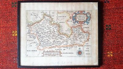 Original map of Berkshire 1607 by Saxton and Hole, good condition