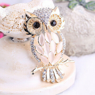 Owl Brooches Bouquet Vintage Wedding  Scarf Pin Up Buckle Broches RU RU