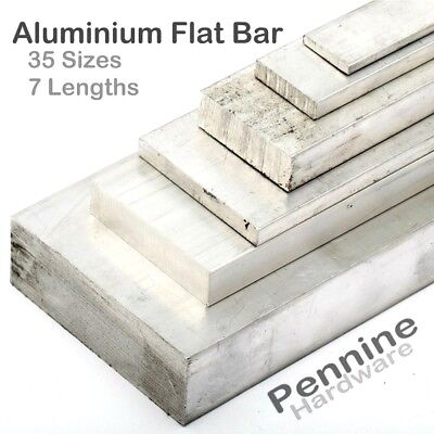 ALUMINIUM FLAT BAR Sheet Plate Metal Alloy Extrusion 35 Sizes available