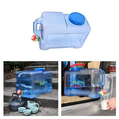 5/8/12L Outdoors Plastic Bottle Jerry Can Water Container Carrier With Water Tap