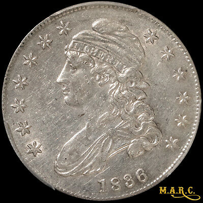 1836 XF45 PCGS 50C Capped Bust Half Dollar, Lettered Edge, Bright and Lustrous!!