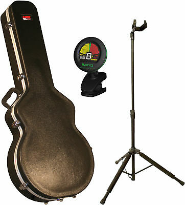 Gator GC-335 Deluxe Hardshell Electric Guitar Case Bundle with Stand and Tu
