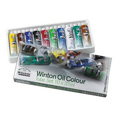 Winsor & Newton Winton Oil 10 x 37ml Artists Paint Tube Box Set