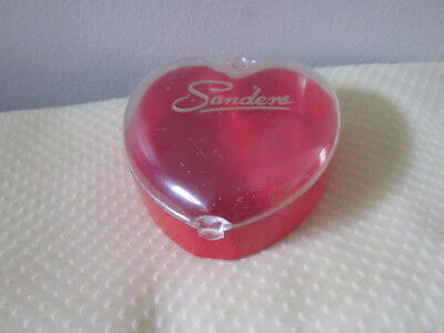 Vintage Sanders Detroit Plastic Candy Box Heart Shaped Valentines Day