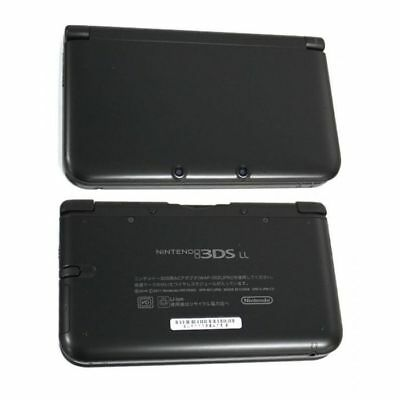 Nintendo 3DS XL Housing Shell Frame Casing Front Back Replacement Black N3DS LL