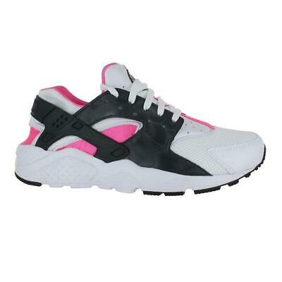 Juniors NIKE HUARACHE RUN GS White Trainers 654280 104