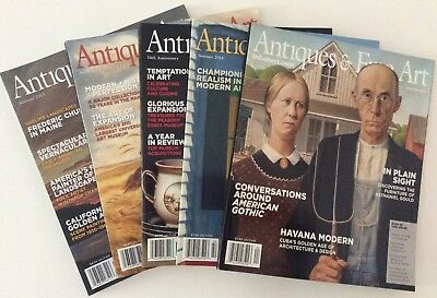ANTIQUES AND FINE ART Magazine 5 Back Issues 2013 And 2014