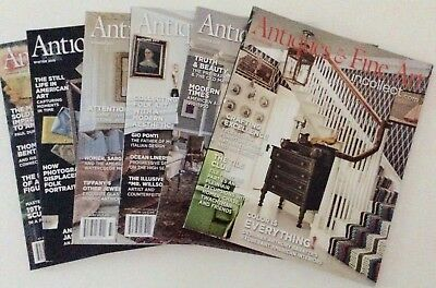 ANTIQUES AND FINE ART Magazine 6 Back Issues 2015 - 2017- 2018