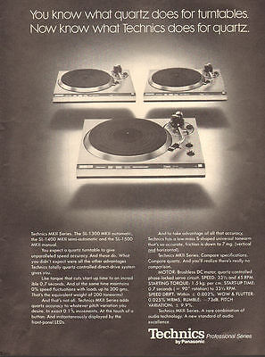 1978 vintage AD TECHNICS Record MKII Turntables Panasonic Quartz 061117