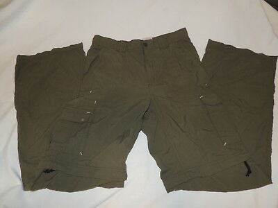 Columbia Zip Off Pants Youth Size 16 Army Green EUC