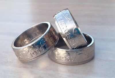 Florin/Two Shillings coin ring