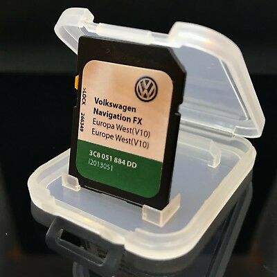 2018! VOLKSWAGEN VW Skoda Seat RNS 310 V10 SD Card Sat Nav Map Europe and UK