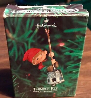Vintage Hallmark 1980 Thimble Elf  Ornament.