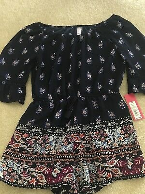 Xhilaration Girls Navy Romper Size Medium
