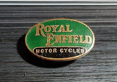 Royal Enfield Knopf Motor Cycle emailliert gestempelt Madison Medal Maße 28x18mm