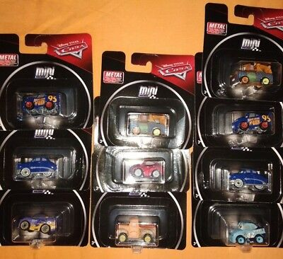 New 2019 Disney Pixar Cars 3 Mini Racers Metal In Blister Asst. Fkl39