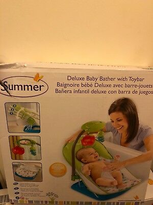 SUMMER INFANT DELUXE Baby Bather Pink Circle Daisy - £12.99 ...