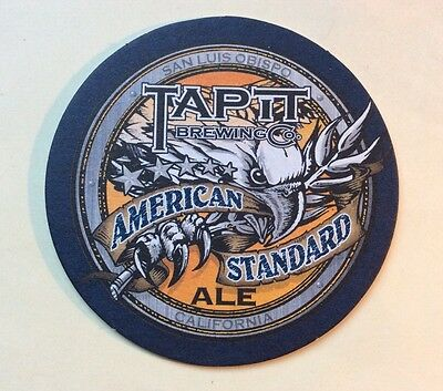 "Beer Coaster ""TAP IT Brewing Co San Luis Obispo CALIFORNIA Brewery"" 4"""
