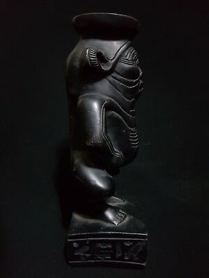 Rare Ancient Egyptian Antique Statue Of God Bes Egypt Stone 654-332 Bc