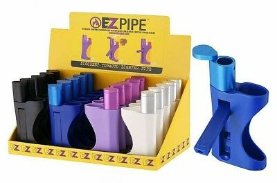 2 PACK - EZ PIPE  Discreet Tobacco All in One Lighter Pipe smokeless wind proof