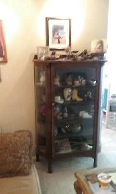 Antique Bow Curio Cabinet