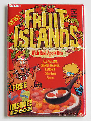 Fruit Islands Fridge Magnet 2 X 3 Inches Cereal Box 595 Picclick