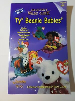Ty Beanie Babies Collector's Value Guide Winter 2001 Price Guide CheckerBee EUC